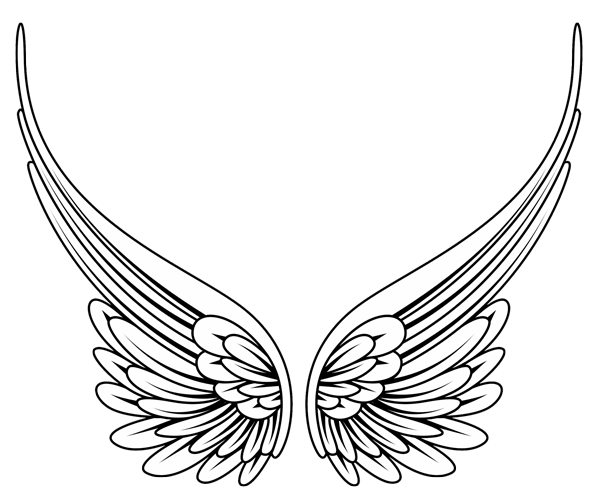 Wing clipart drawing. Angel images gallery for