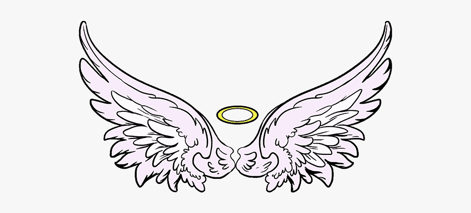 Filigree angel drawings of. Wing clipart drawing