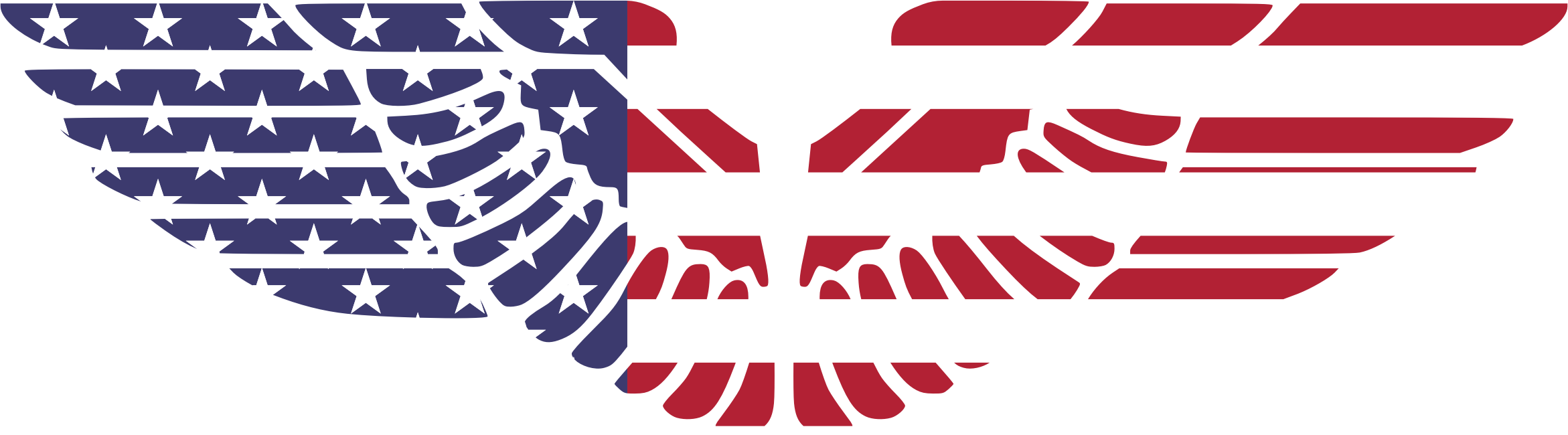 Wing clipart eagle. American wings big image