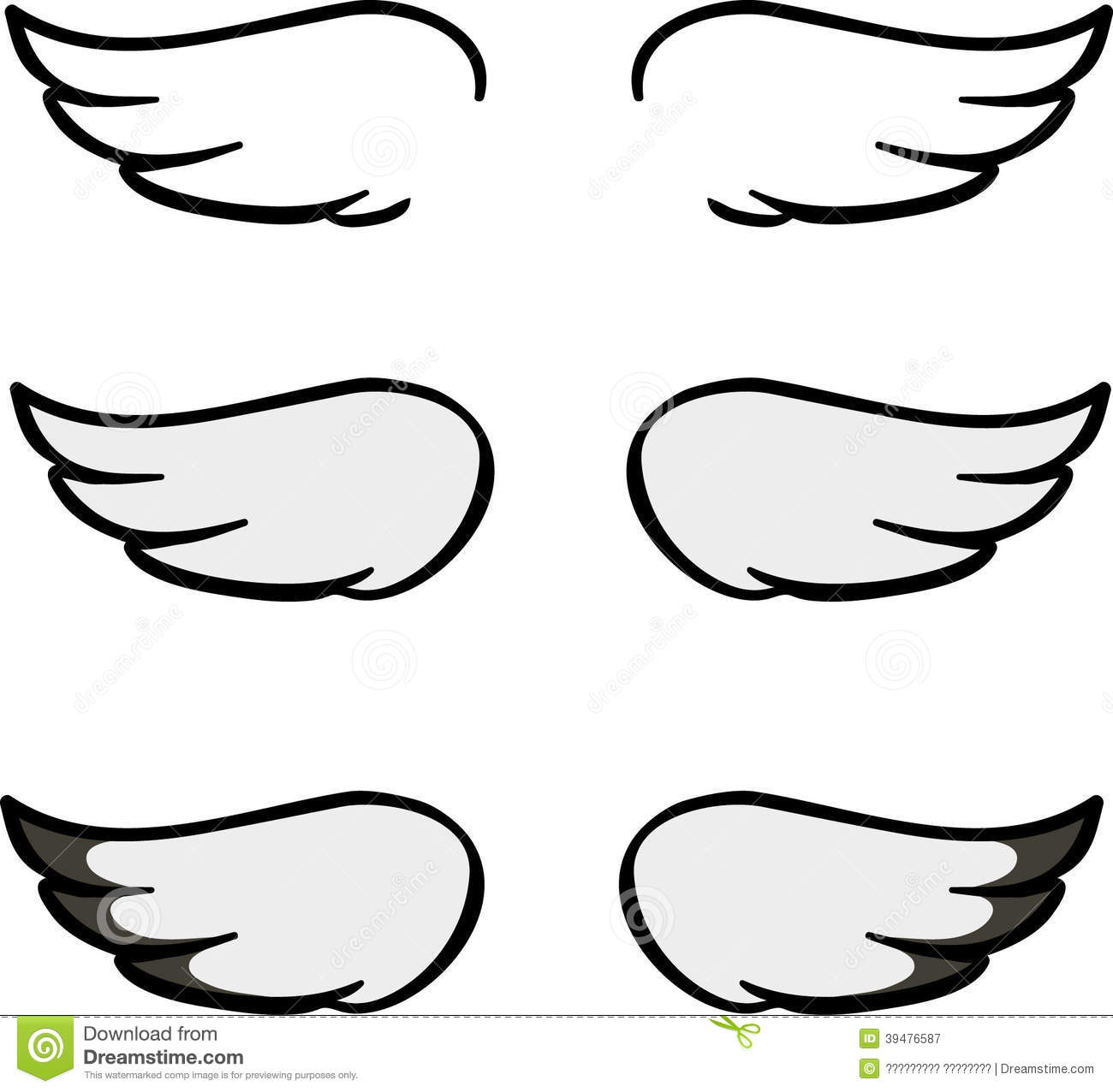 Wing clipart easy. Simple free download best