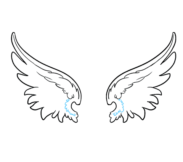 Wing clipart easy. Angel wings cartoon images