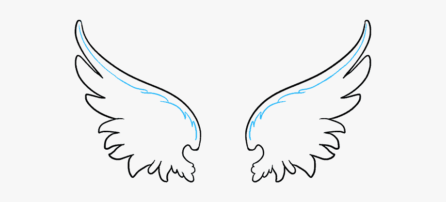 Wing clipart easy. How to draw angel