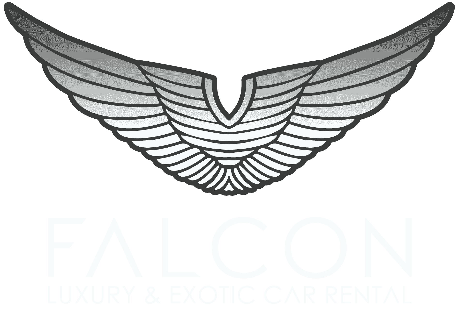 Luxury and exotic car. Wing clipart falcon
