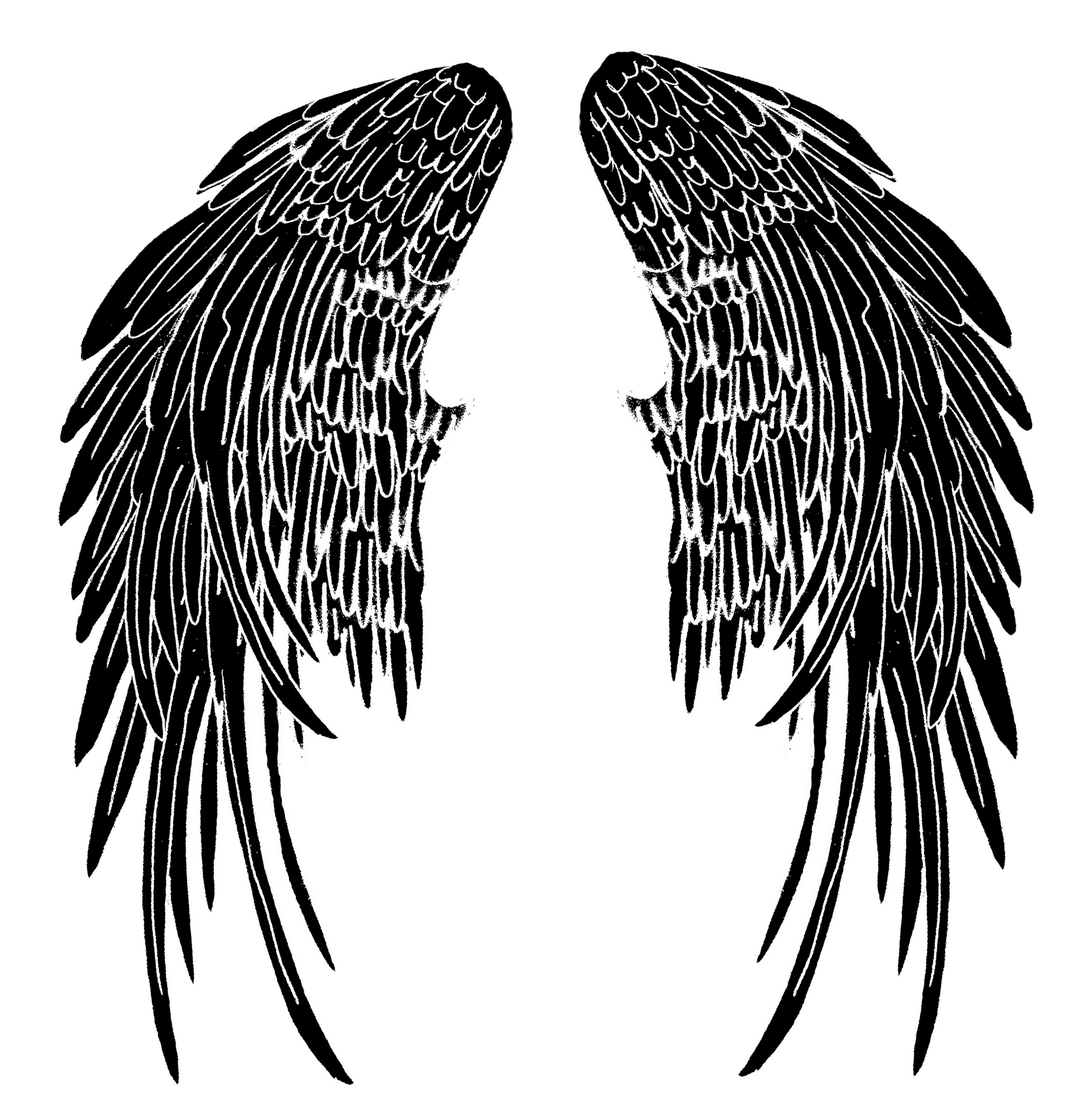 Wing clipart fallen angel. Free cliparts download clip