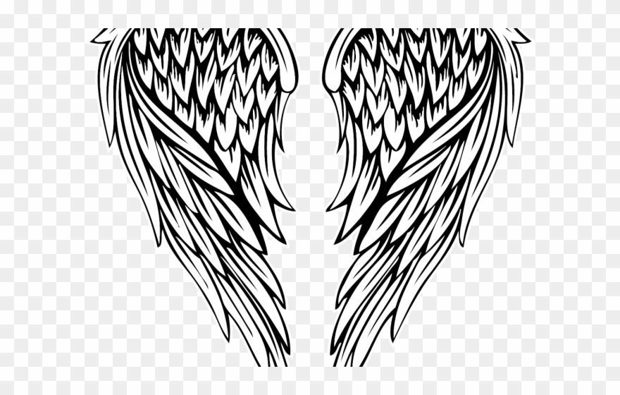 Colored png download . Wing clipart fallen angel