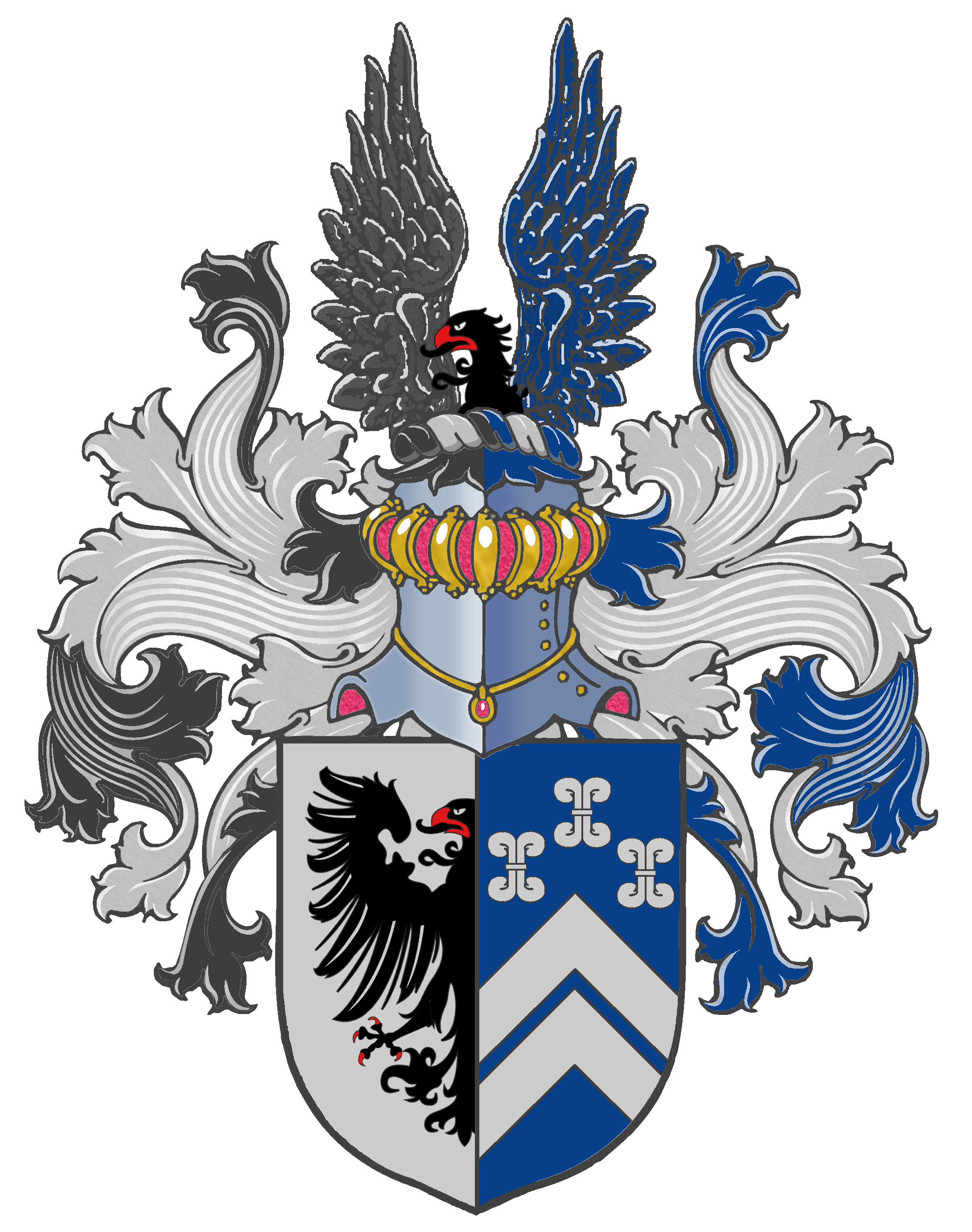 This is the full. Wing clipart family crest