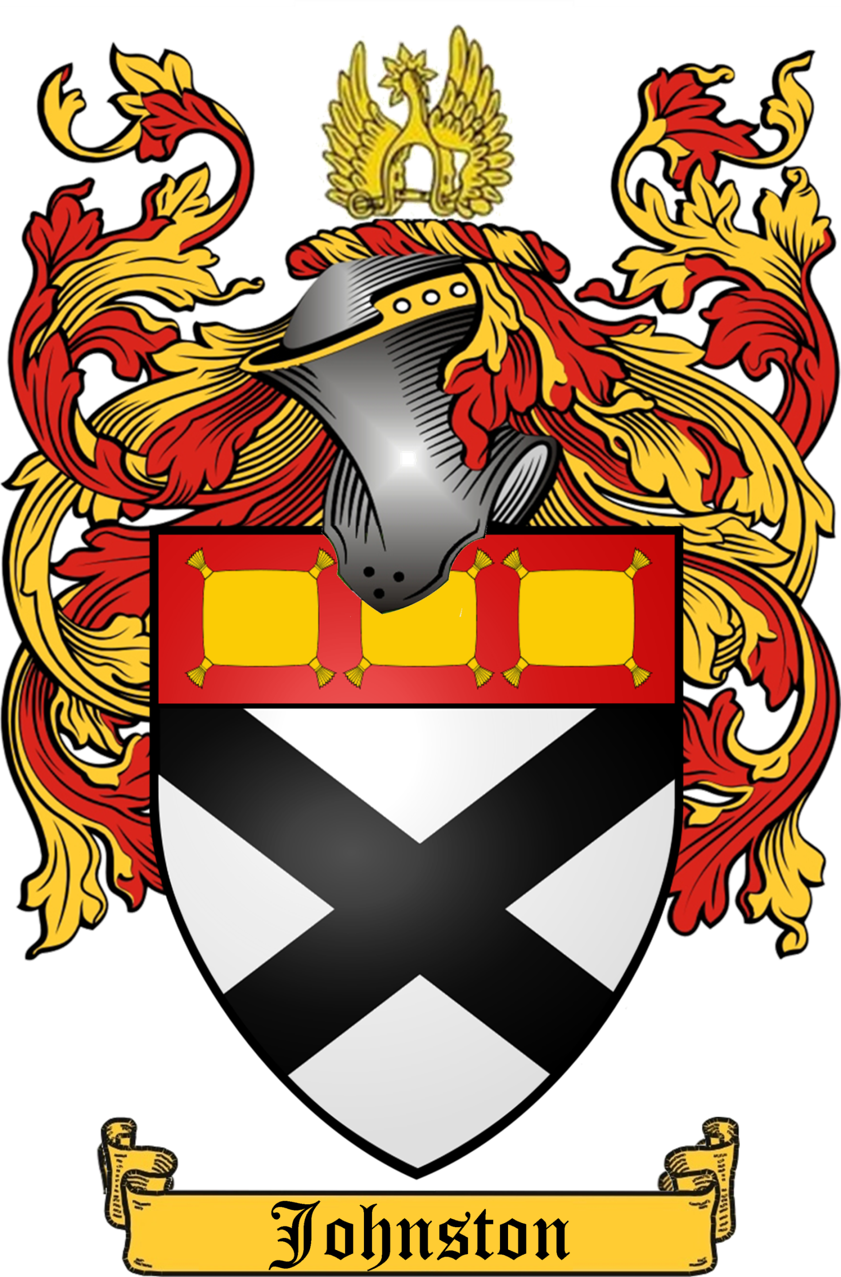 Wing clipart family crest. Johnston history