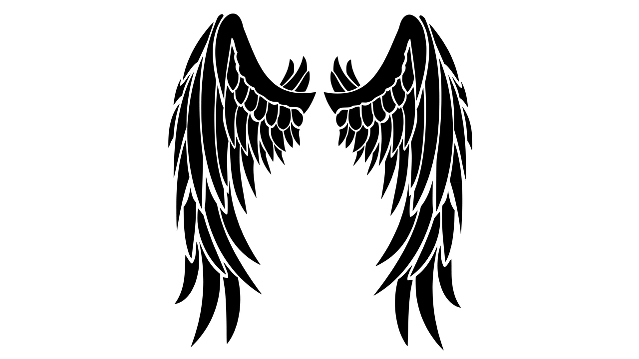 Wing clipart feather wing. Black wings transparent png