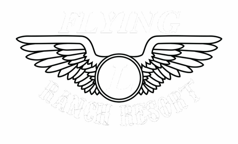 L ranch resort airline. Wing clipart flying