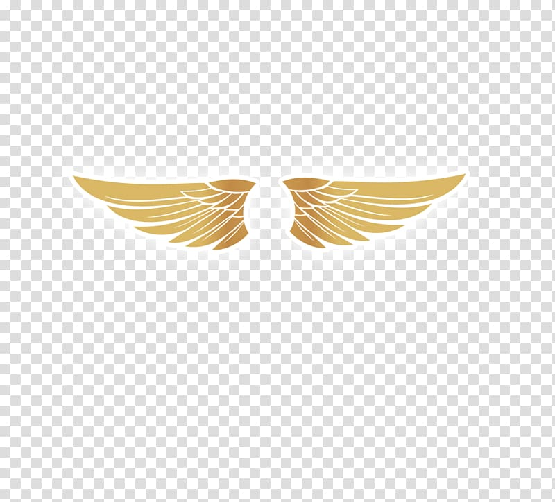 Wing clipart gold. Logo golden wings transparent