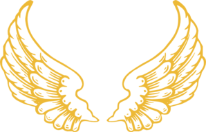 Wings clip art at. Wing clipart gold