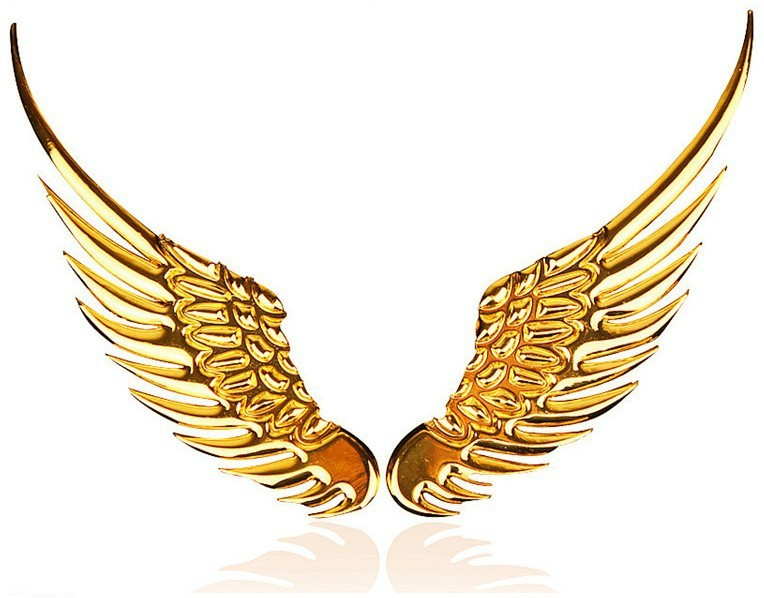 Wing clipart gold. Free angel wings png