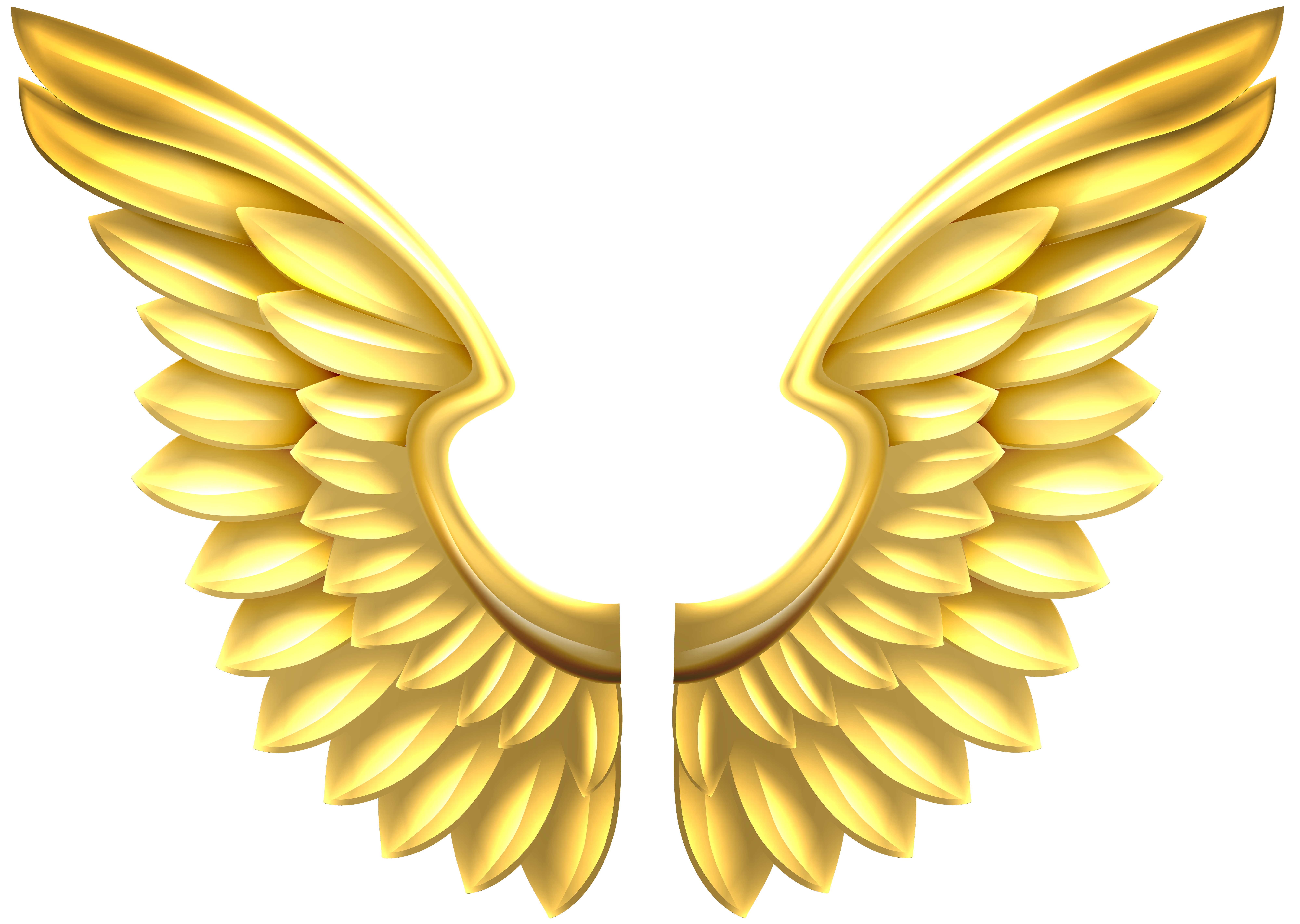 Wing clipart gold. Wings transparent png clip