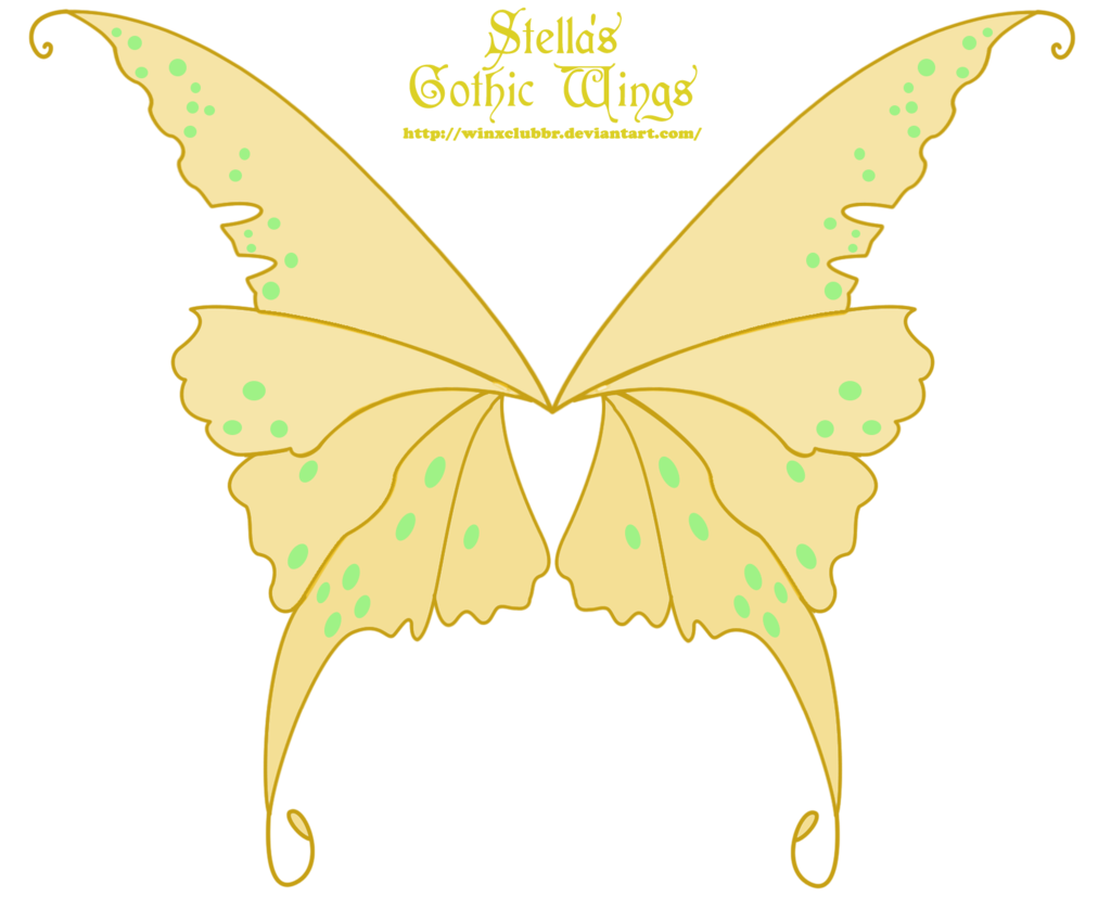 Winx club stella s. Wing clipart gothic
