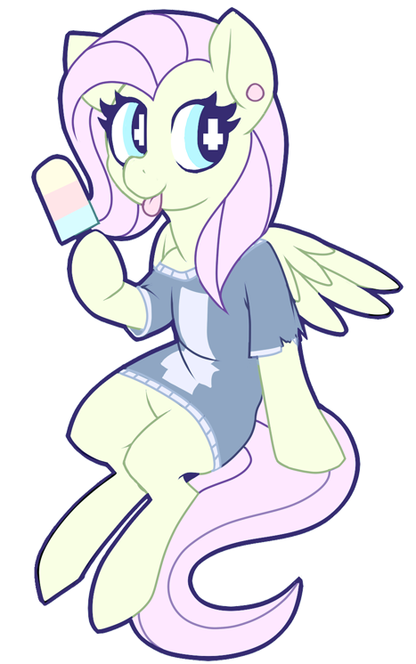 Wing clipart grunge. Fluttershy in some pastel