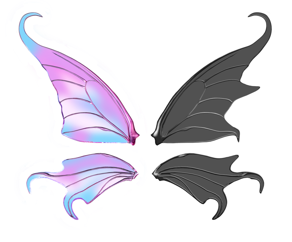 Transparent wings by aliachek. Wing clipart grunge