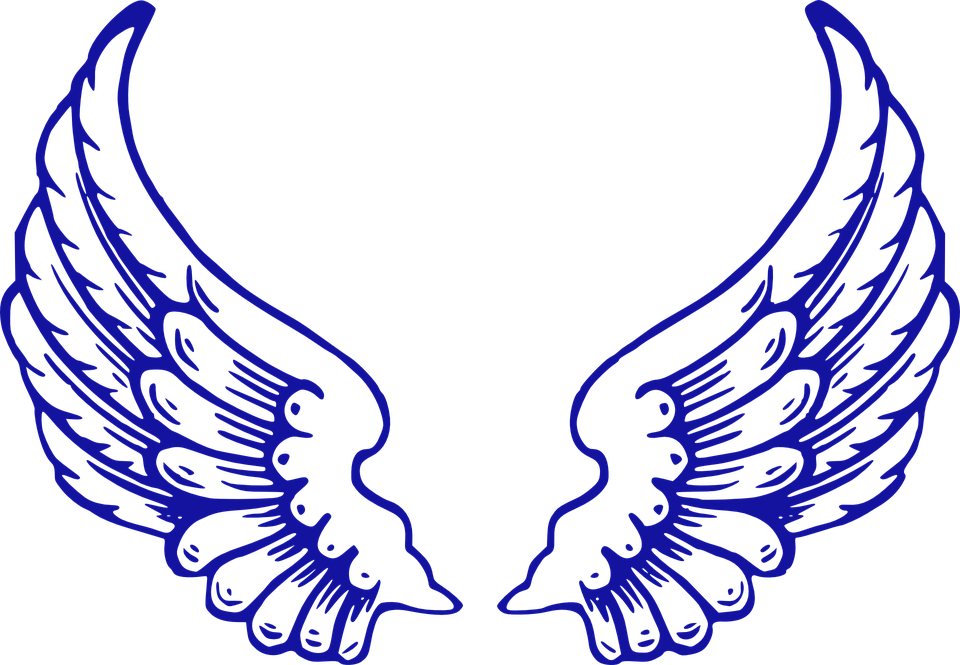 Angel vector group wings. Wing clipart grunge