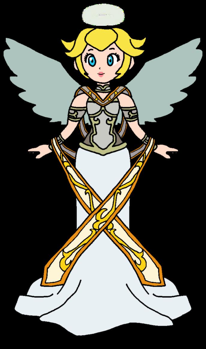 Peach joan by katlime. Wing clipart guardian angel