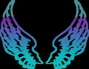 Purple wings clip art. Wing clipart guardian angel