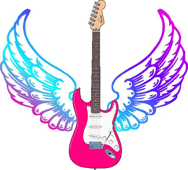 Clip art at clker. Wing clipart guitar