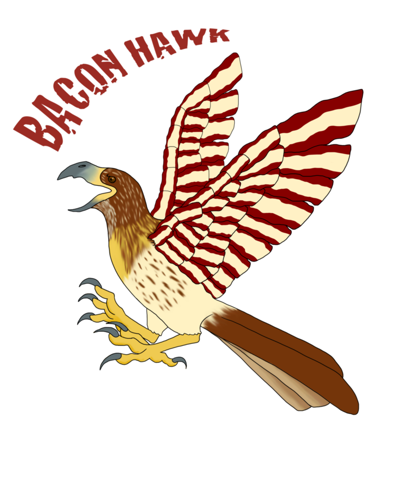 Bacon by kyuubinicole on. Wing clipart hawk