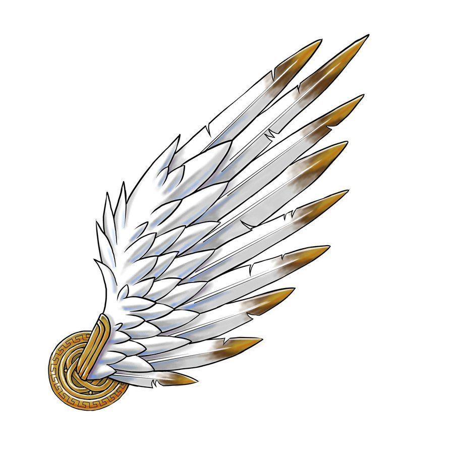 Wings by mcazar deviantart. Wing clipart hermes