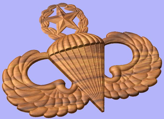 Wing clipart jumpmaster. Master parachutist badge style