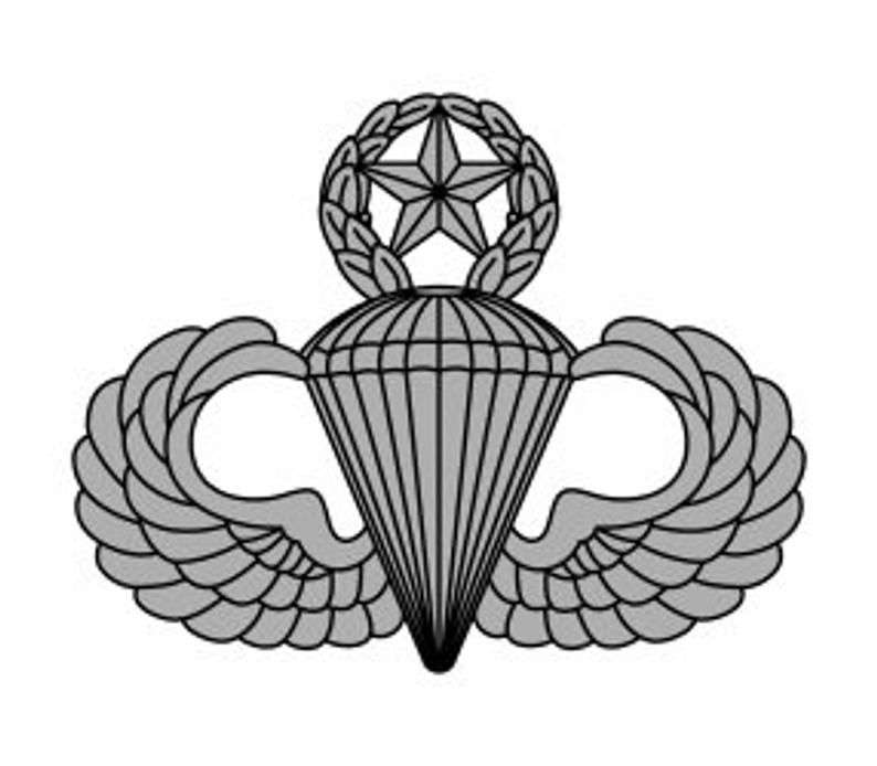 Us army master parachutist. Wing clipart jumpmaster