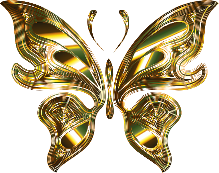 Prismatic butterfly variation no. Wing clipart metal
