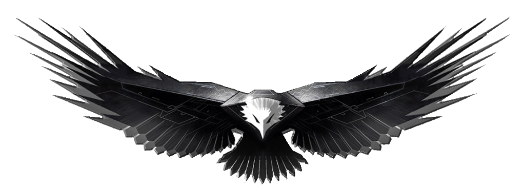 Eagle art png image. Wing clipart metal
