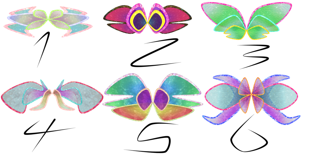 Wing clipart one wing. Winx club harmonix adoptables