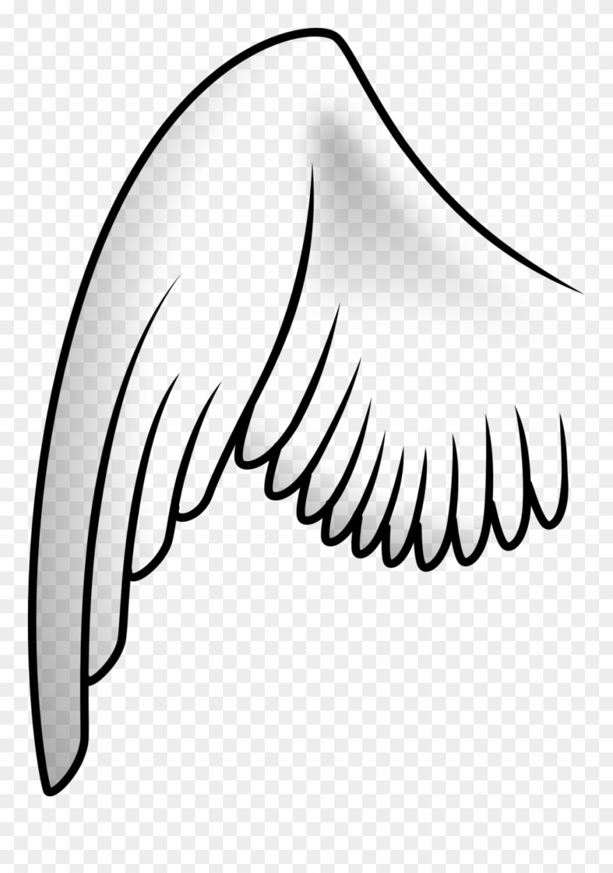Wing clipart outline. Tattoo clip art download