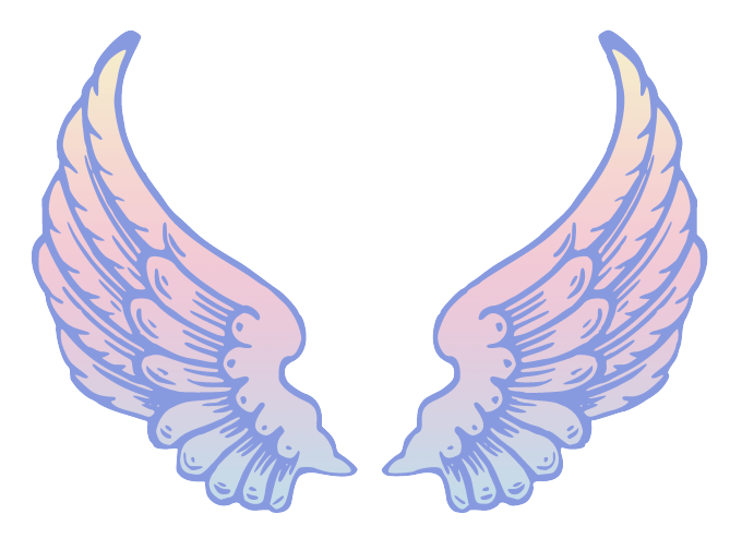 Angel wings siewalls co. Wing clipart pastel