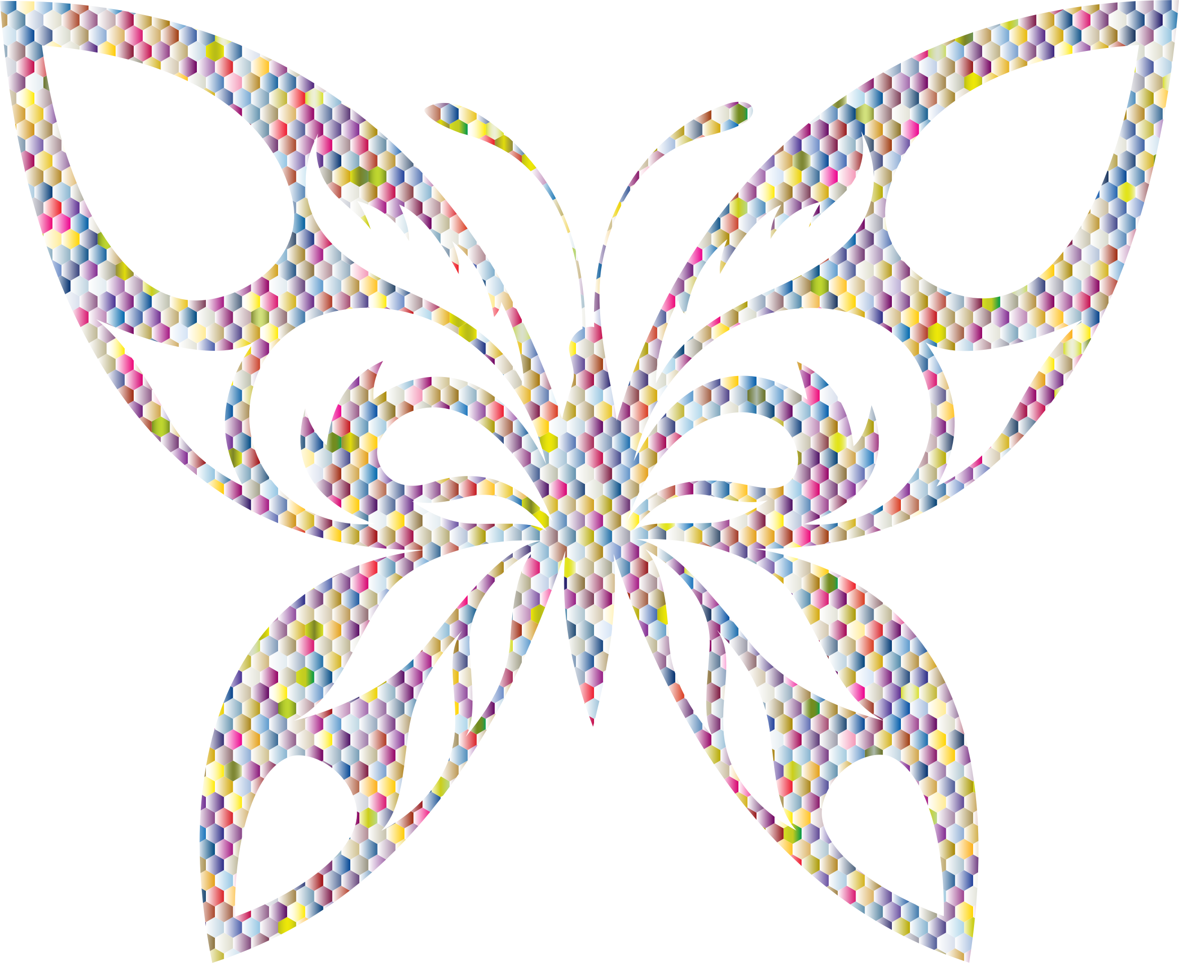 Wing clipart pastel. Prismatic hexagonal tribal butterfly