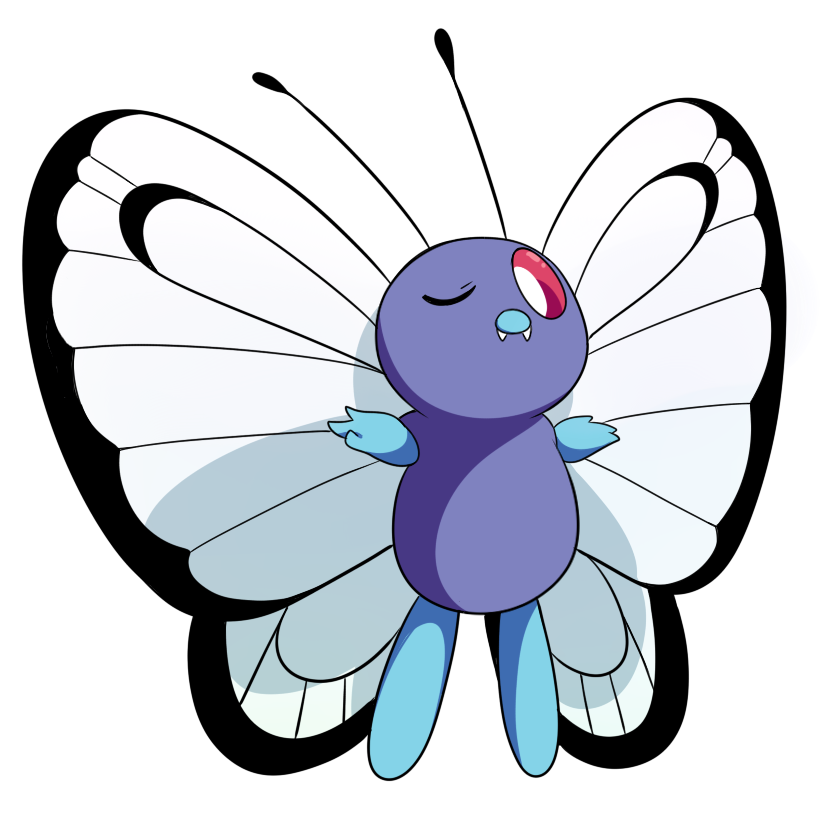 Butterfree poison pin wikia. Wing clipart pastel