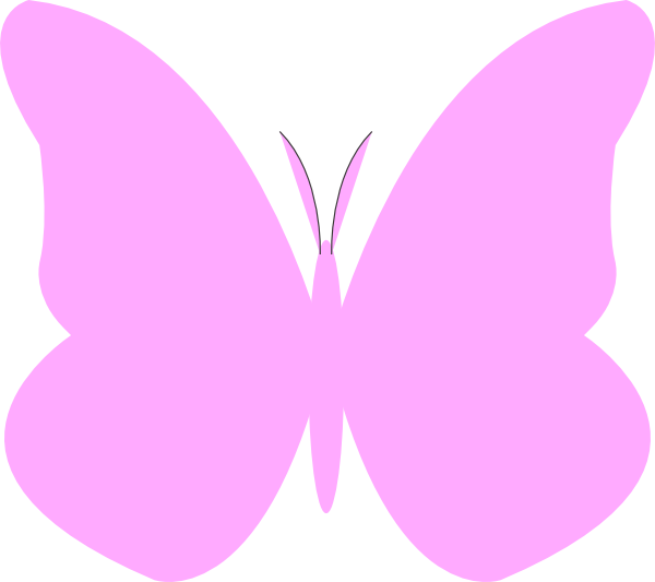 Wing clipart pastel. Bright butterfly pink simple