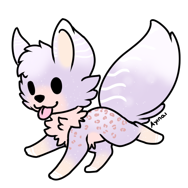 points fox adopt. Wing clipart pastel