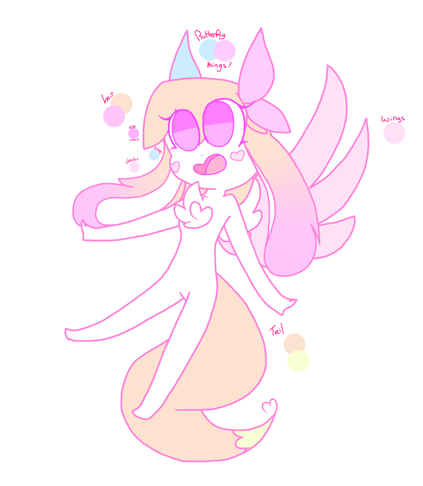 Wing clipart pastel. Oc by quartelz on