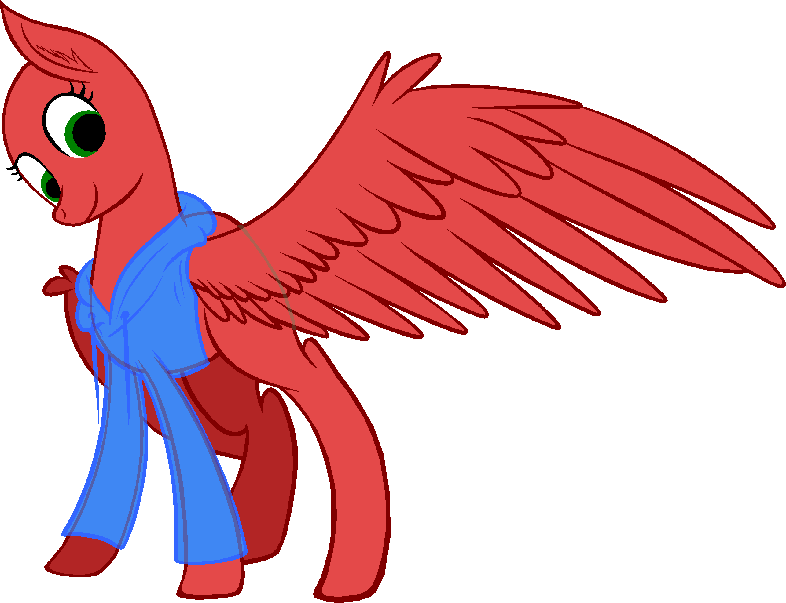 Pony base look at. Wing clipart pegasus wing