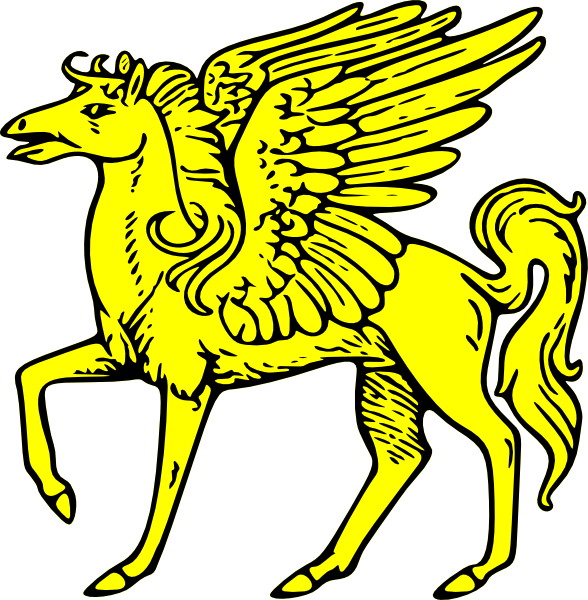 Wing clipart pegasus wing. Winged horse clip art