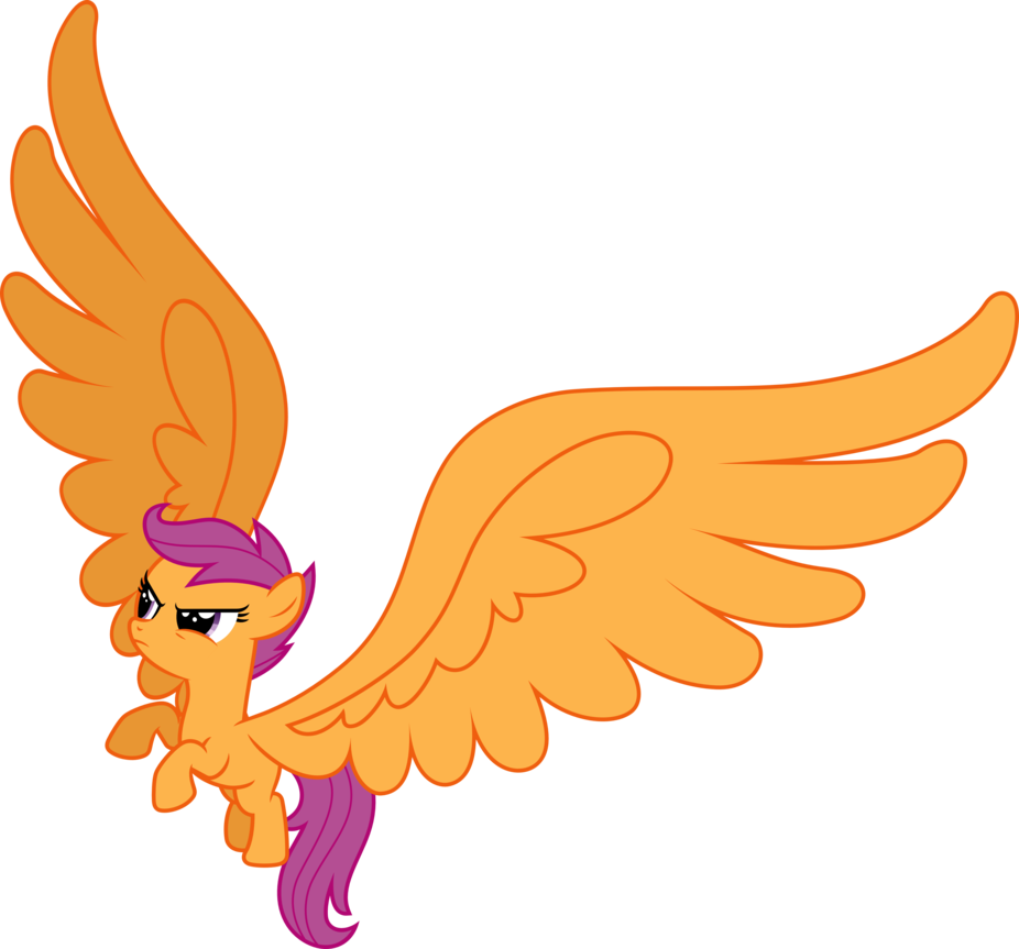 Wing clipart pegasus wing. Scootaloo big wings by