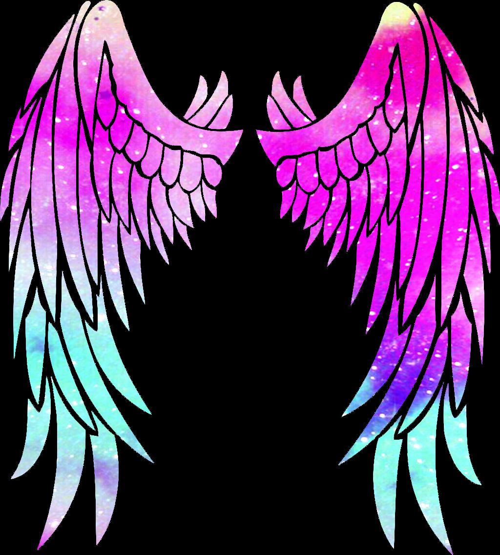Galaxy angelwings wings galaxyedit. Wing clipart picsart