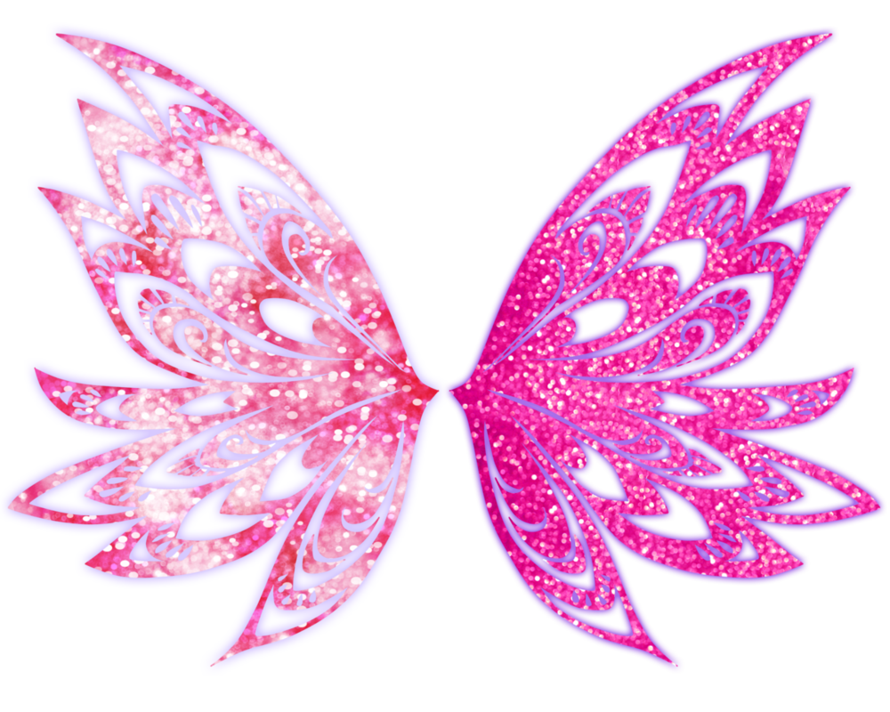Stella butterflix wings by. Wing clipart pink