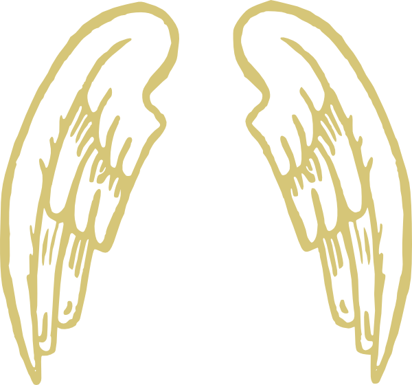 Wing clipart printable. Golden snitch wings clip