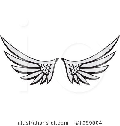 Wing clipart royalty free. Wings illustration by any