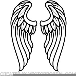 Wing clipart royalty free. Angel wings outline images