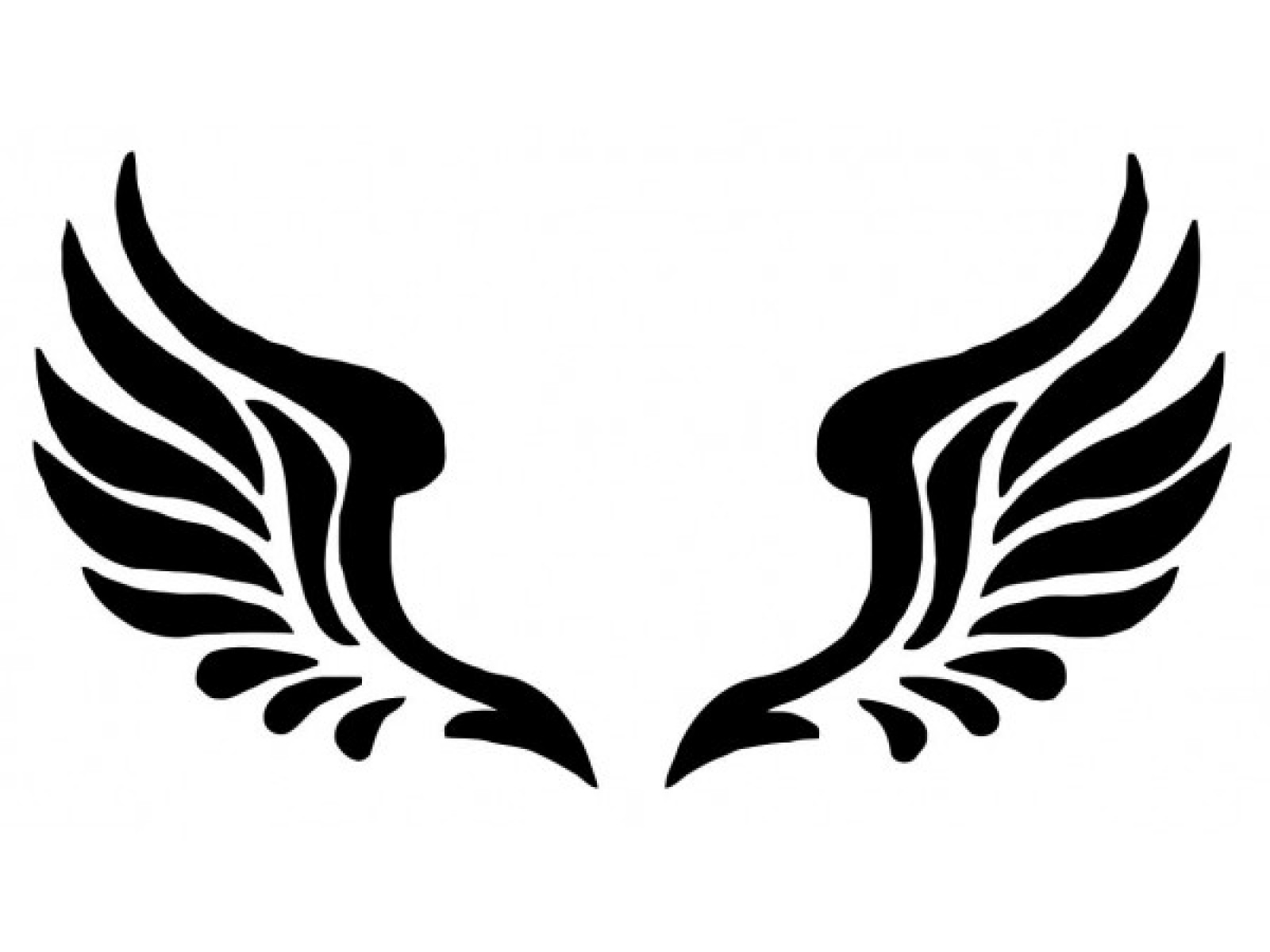 Wing clipart silhouette. Angel free download best