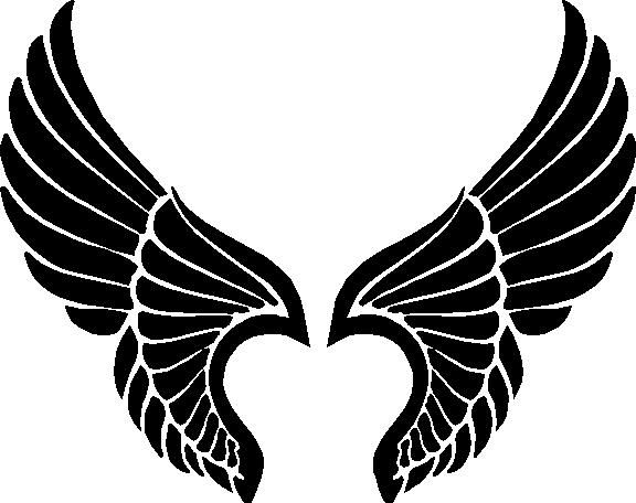 Free download best . Wing clipart silhouette angel