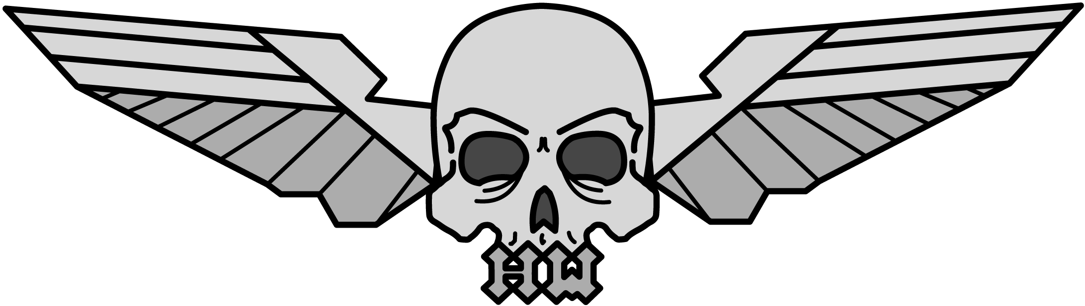Biography hardwire and wings. Wing clipart skull