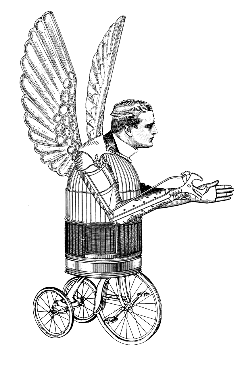 Wing clipart steampunk. The sum of all